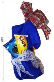 Befana decorativa da riempire con dolcetti 27cm blu