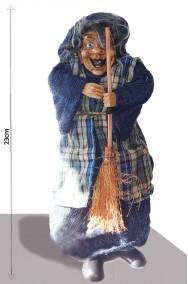 Befana decorativa Strega con corpo cavo per dolcetti 23cm