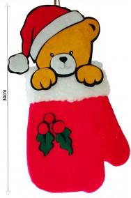 Calza della befana a forma di guanto di Babbo Natale da riempire