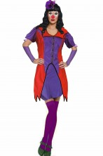 Costume clownette donna clown o joker viola