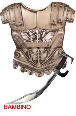 Pettorale Corazza Armatura romano con Spada guerriero romano Bambino