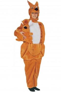 Mascotte Costume Unisex Canguro con cangurino