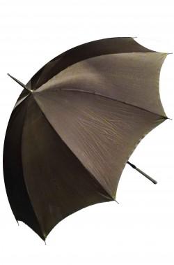 Ombrello parapioggia vintage originale anni 30 tortora manico in metallo