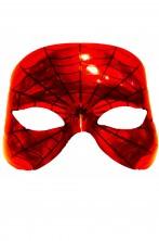 Maschera spiderman in plastica rigida a mezzo viso adulto e bambino