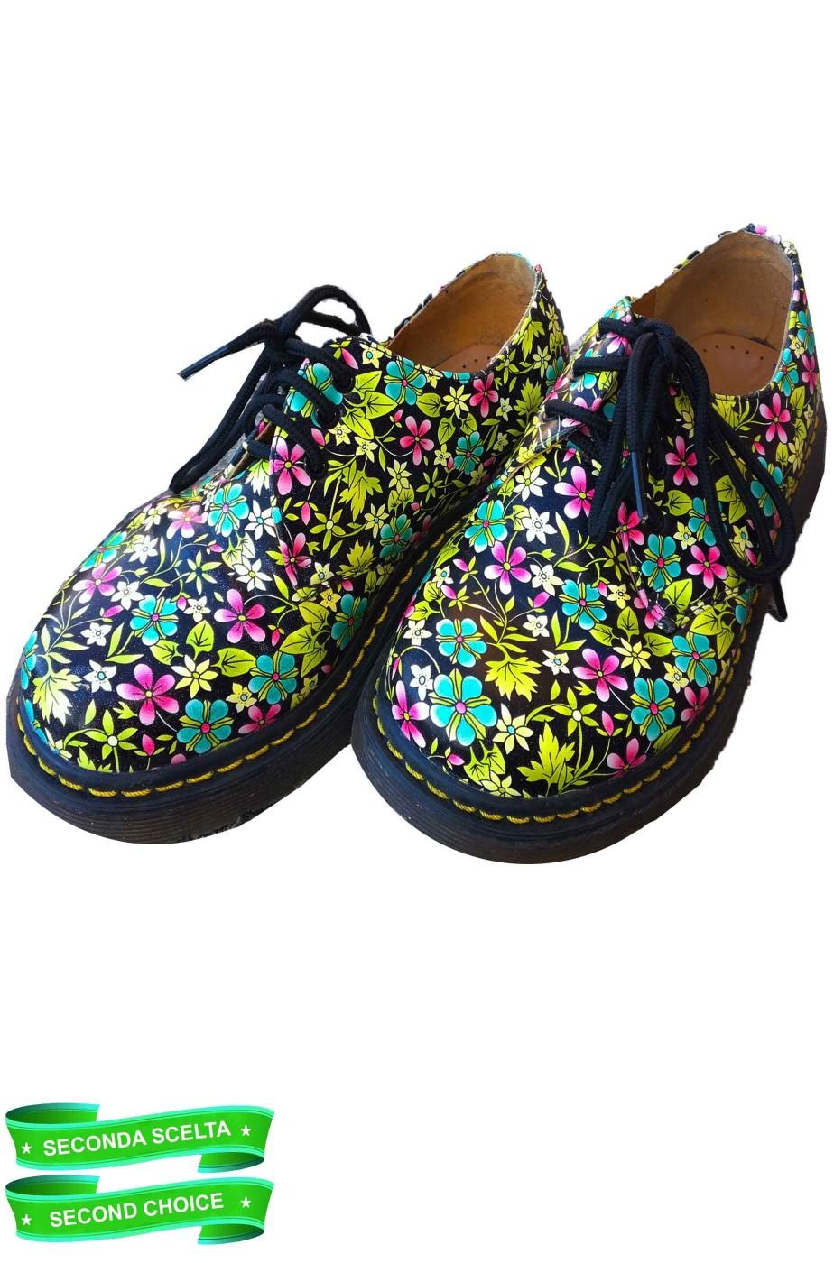 Scarpe basse anni 70 flower power 38 scarpa di test di negozio