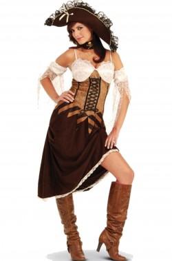 Costume donna Piratessa Moschettiera adulta