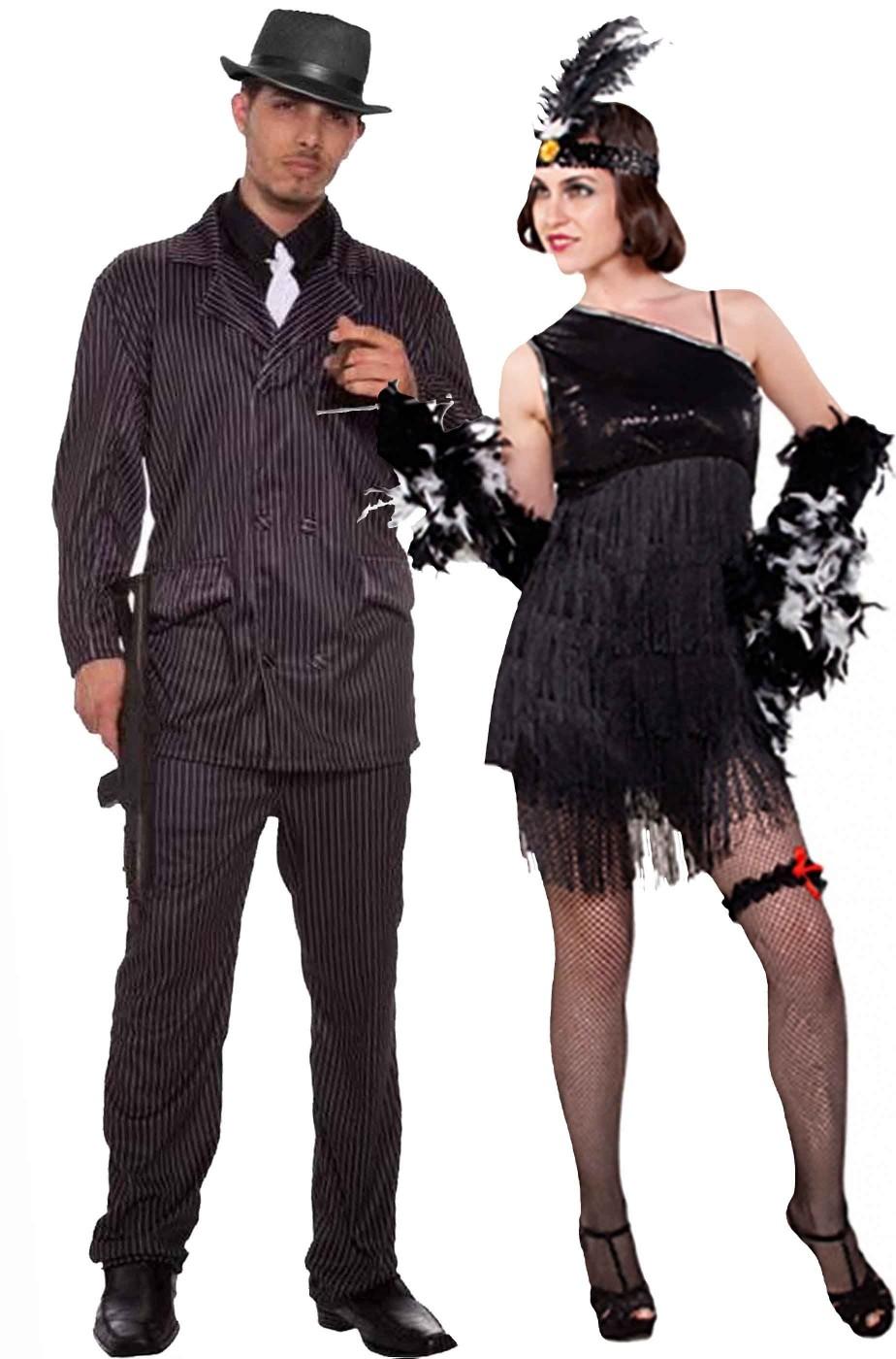 nuovo arriva in uso durevole Sito ufficiale Coppia di costumi adulto Anni 20 Charleston gangster economici