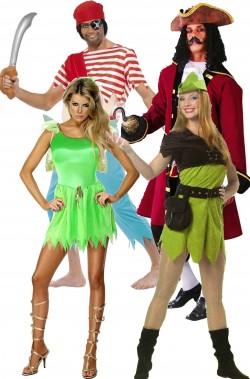 Gruppo di costumi di carnevale Peter Pan L'isola che non c'e'