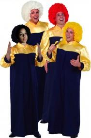 Gruppo costume adulto unisex cantanti gospel