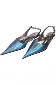 Scarpe da gala azzurre da sera made in Italy per Cenerentola
