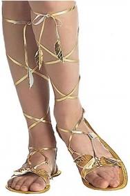 Sandali da Romana o Egiziana Cleopatra color oro