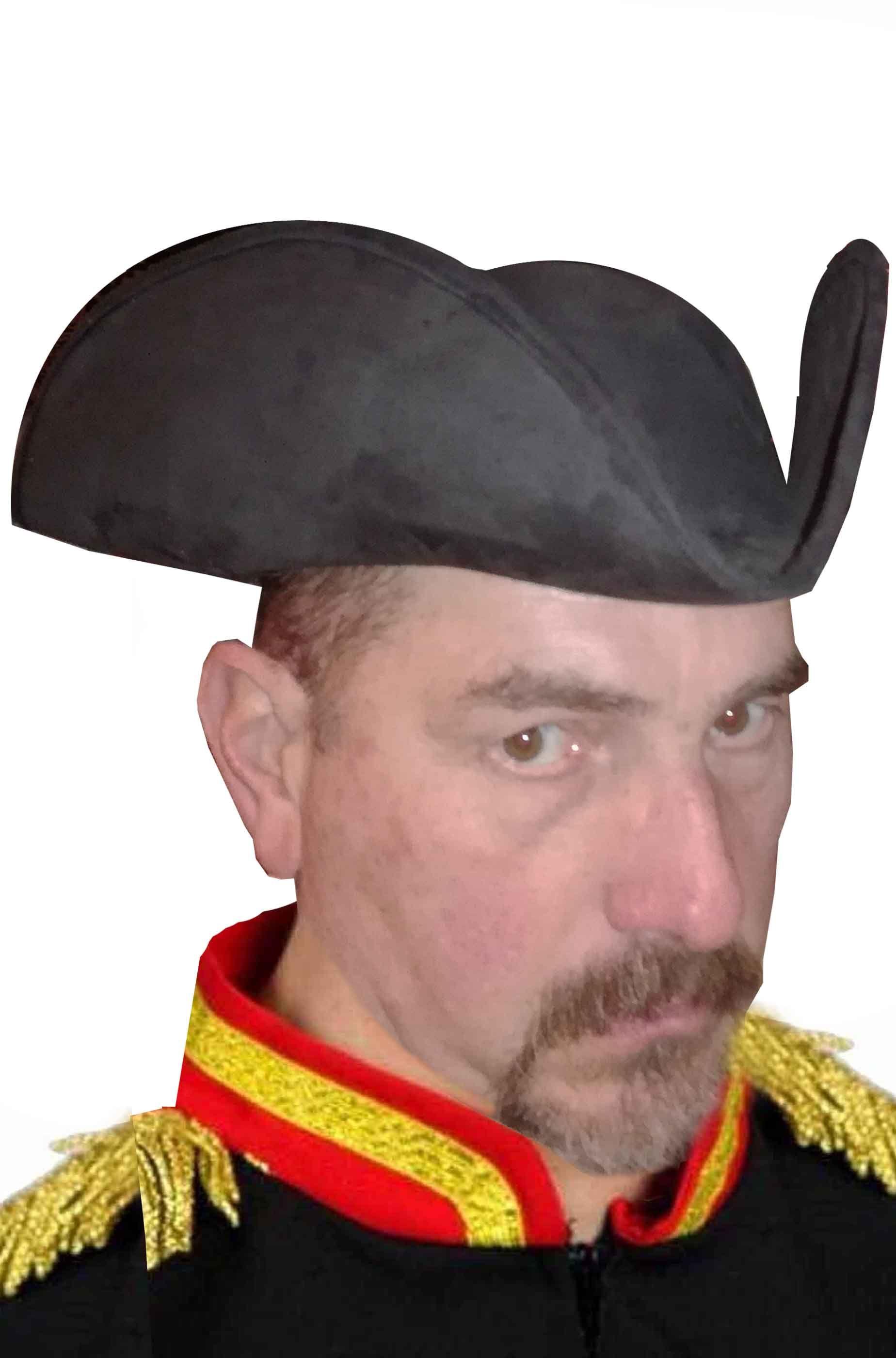Cappello di carnevale tricorno da pirata a o barocco veneziano a forma di tricorno
