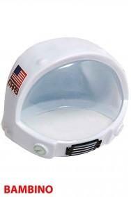 Casco astronauta bimbo in plastica in due parti (anteriore+posteriore)