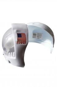 Casco astronauta adulto in plastica in due parti (anteriore+posteriore)