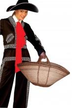 Borsa grande in paglia stile messicano
