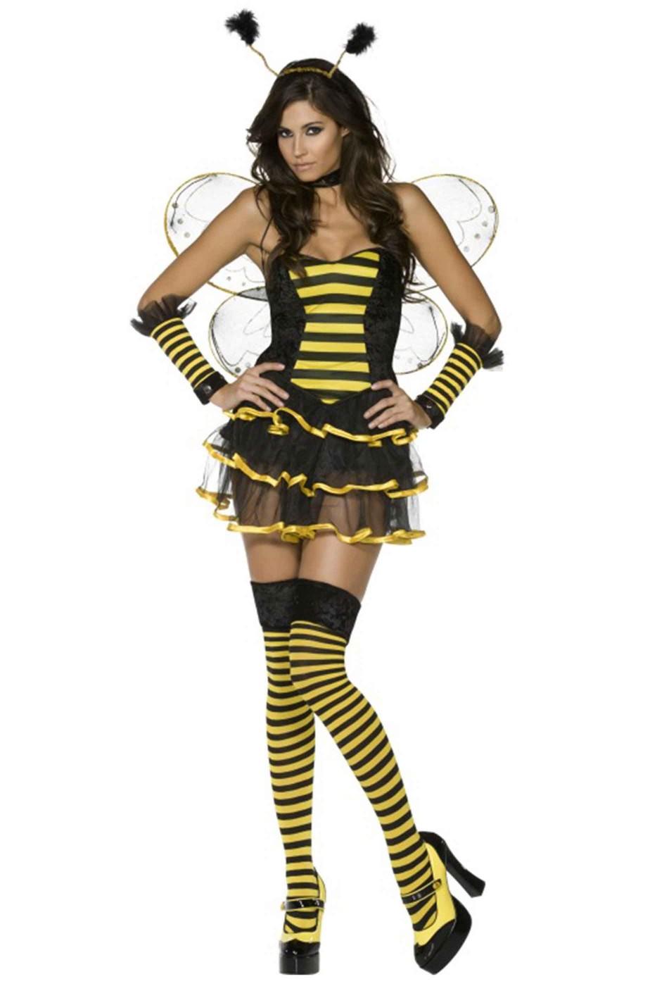 a5c67813b60f Costume di carnevale completo donna ape sexy di halloween,feste a tema