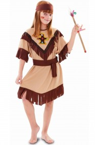 Costume carnevale Bambina Principessa Indiana Sioux