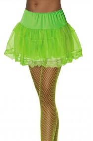 Sottogonna verde fluorescente tutu'