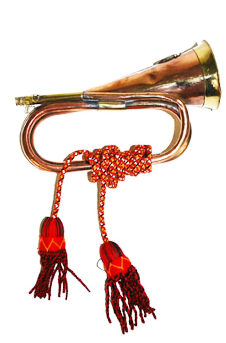 Tromba da cavalleria decorativa in metallo