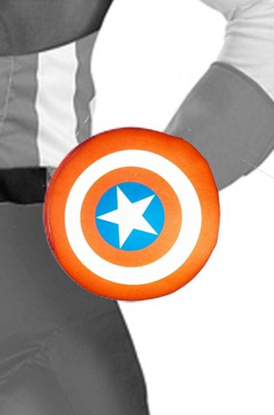 Scudo Capitan America mini in gomma piuma con manopola 23 cm circa