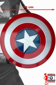 Scudo Capitan America Adulto in plastica dimensione reale 61cm diam Civil War