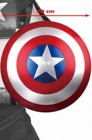 Scudo Capitan America Adulto in plastica (peso circa 30 gr dimensione reale 60cm diametro. Versione film.