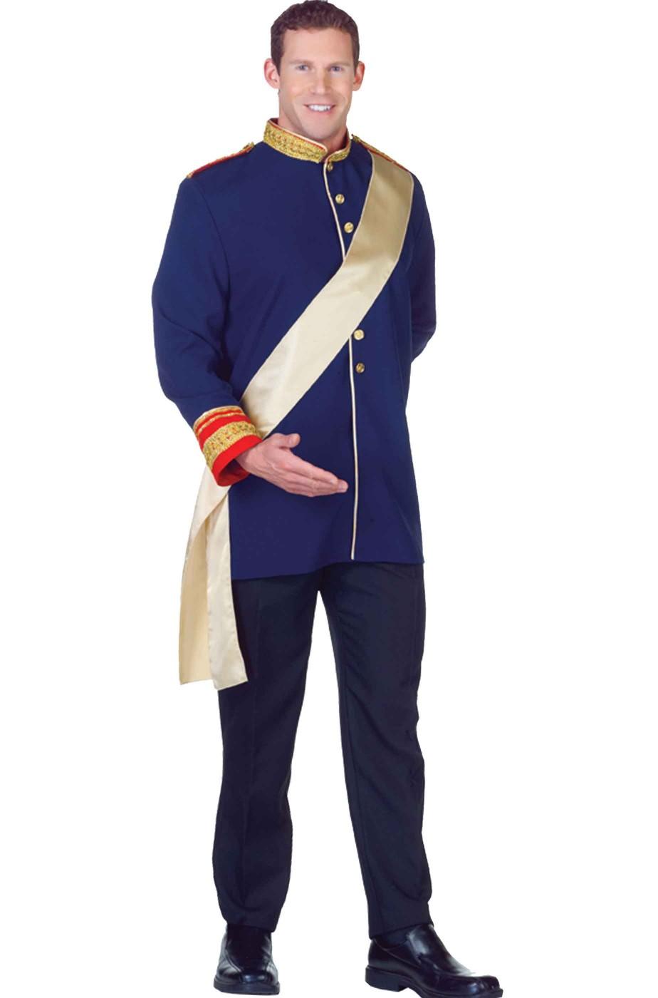 il più economico prezzi al dettaglio ultimo sconto Costume principe azzurro di Cenerellaadulto giacca blu