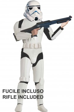 Costume Stormtrooper adulto con fucile Star Wars