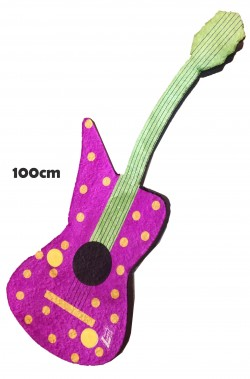 Chitarra finta anni 70 di gommapiuma lunga