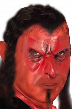 Protesi trucco halloween mascherina naso demone rosso