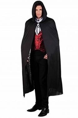 Mantello per vampiri nero lunghezza 190 cm