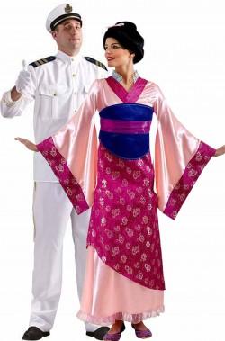 Coppia di costumi Madame Butterfly Pinkerton e Cho Cho San