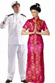 Coppia di costumi Madame Butterfly Pinkerton e Cho Cho San economica