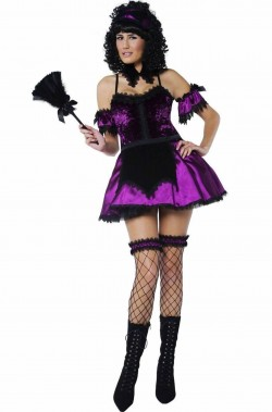 Costume da Cameriera donna vampira viola Magenta