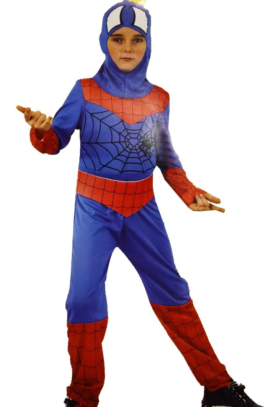 Costume dell'uomo ragno bambino viso scoperto economico