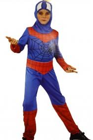 Costume dell'uomo ragno bambino viso scoperto