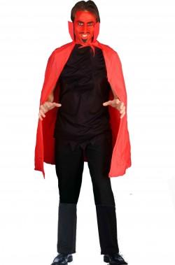 Mantello adulto in PVC rosso lungo circa 115 cm