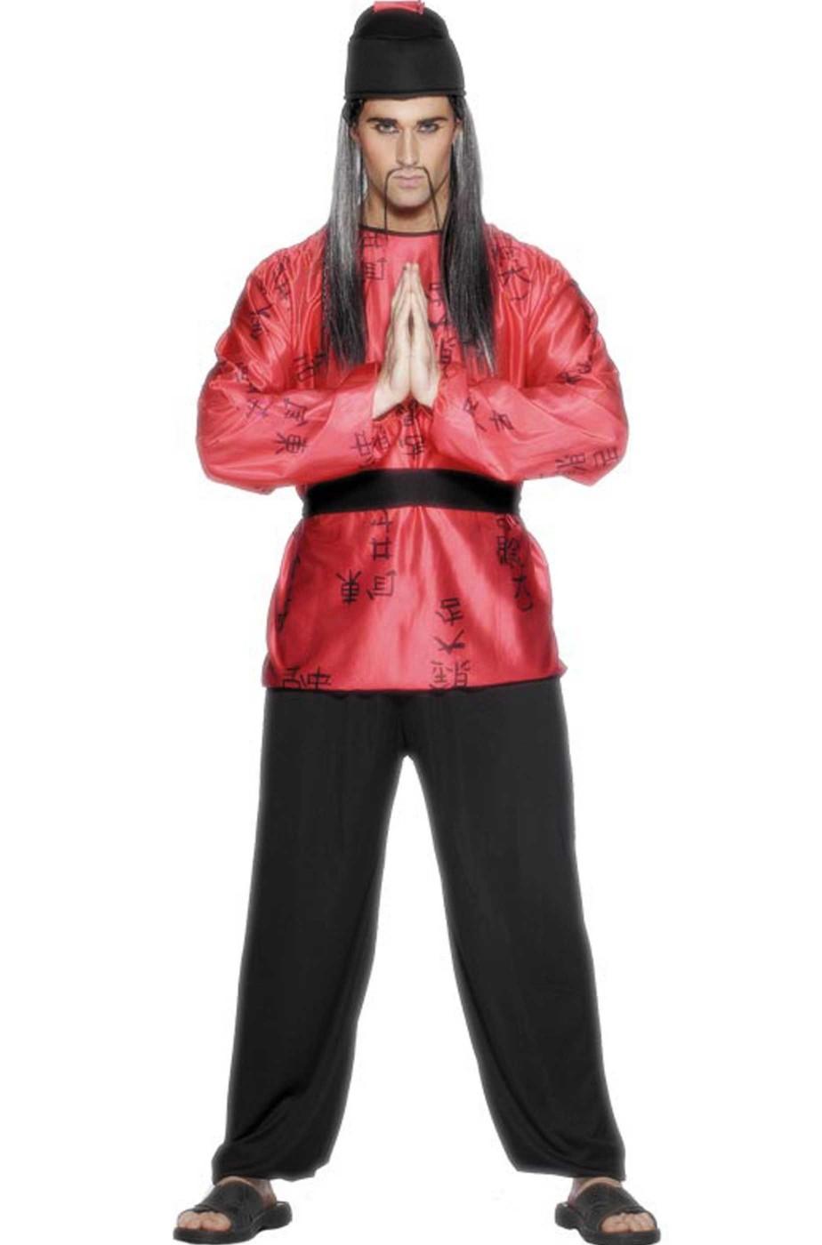 check-out offrire ultimo sconto Vestito di Carnevale uomo Giapponese o Cinese Fu Manchu taglia media