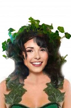 Parrucca donna verde lunga mossa da elfa o poison ivy