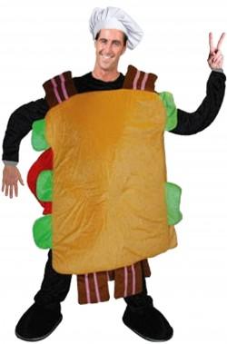 Costume Mascotte Panino Toast Sandwitch