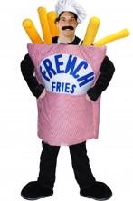 Costume Mascotte Cartoccio di Patatine Fritte