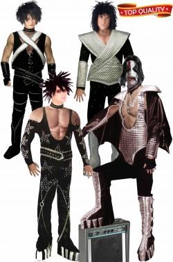 Gruppo di quattro vestiti I Kiss per cover band e non solo