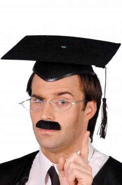 Cappello tocco da laureato rigido floccato con alamaro