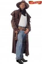 Costume uomo cappotto cinturone cappello Cowboy