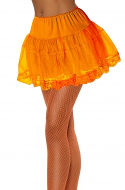 Sottogonna Tulle Arancione con pizzo