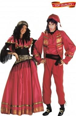 Coppia di costumi Esmeralda e Quasimodo il gobbo di notre dame