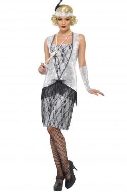 Costume Adulta Flapper Anni 20 charleston