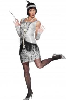 Vestito anni 30 donna Charleston Flapper Grande Gatsby