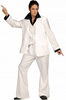 Costume uomo anni 70 febbre del sabato sera bianco