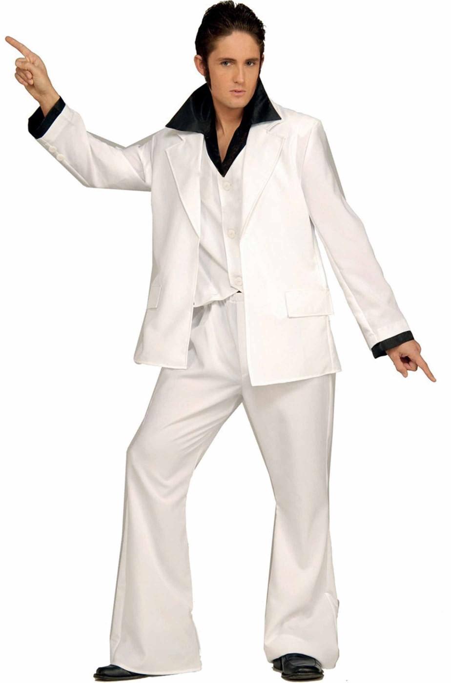 d416a04a3e11 costume uomo completo adulto saturday night fever Tony Manero bianco